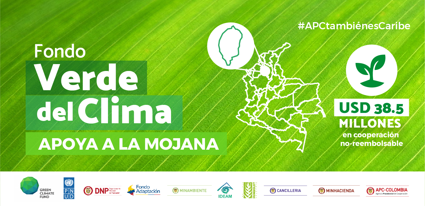 Fondo verde para el clima colombia